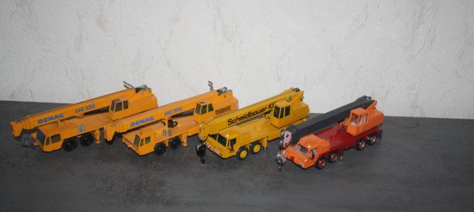 Fahrzeugentwicklung dargestellt anhand von Modellkranen.